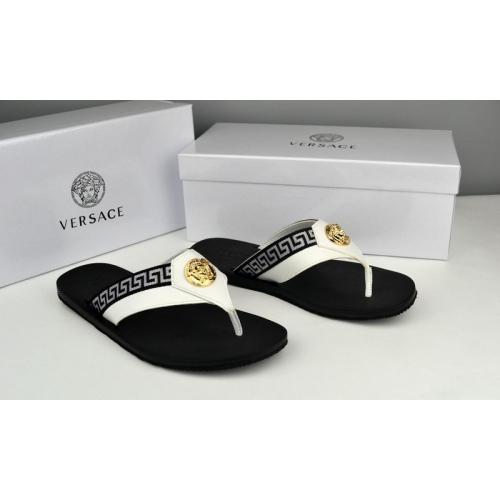 Cheap Versace Slippers For Men #287850 Replica Wholesale [$42.80 USD] [W-287850] on Replica Versace Slippers