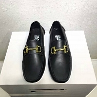 Salvatore Ferragamo SF Leather Shoes For Men #311405