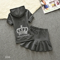 Juicy Couture Tracksuits Short Sleeved For Women #332069
