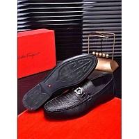 Salvatore Ferragamo SF Leather Shoes For Men #332634
