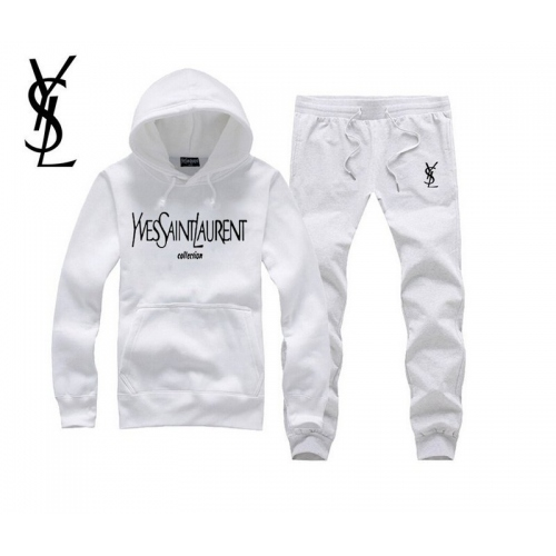 Cheap Yves Saint Laurent YSL Tracksuits Long Sleeved For Men #343857 Replica Wholesale [$54.00 USD] [W-343857] on Replica Yves Saint Laurent YSL Tracksuits
