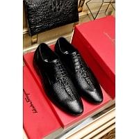 Salvatore Ferragamo SF Leather Shoes For Men #346045