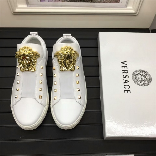 Cheap Versace Casual Shoes For Men #356866 Replica Wholesale [$90.00 USD] [W-356866] on Replica Versace Fashion Shoes