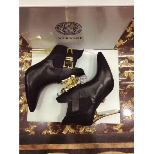 Cheap Versace Fashion Boots For Women #357228 Replica Wholesale [$85.00 USD] [W-357228] on Replica Versace Boots