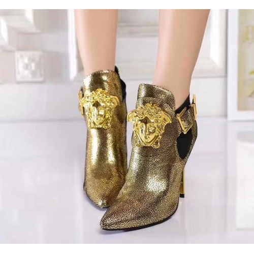 Cheap Versace Fashion Boots For Women #357369 Replica Wholesale [$85.00 USD] [W-357369] on Replica Versace Boots