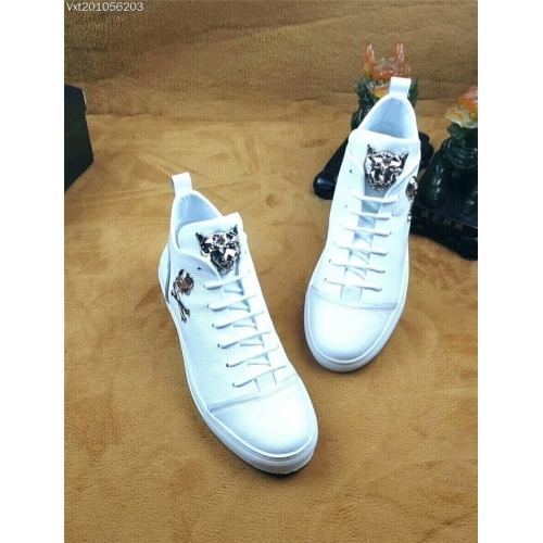 Cheap Philipp Plein PP High Tops Shoes For Men #361976 Replica Wholesale [$95.00 USD] [W-361976] on Replica Philipp Plein PP High Tops Shoes