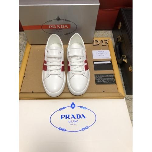 Cheap Prada Casual Shoes For Men #408771 Replica Wholesale [$80.00 USD] [W-408771] on Replica Prada New Shoes