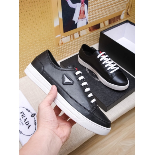 Cheap Prada Casual Shoes For Men #408777 Replica Wholesale [$80.00 USD] [W-408777] on Replica Prada New Shoes