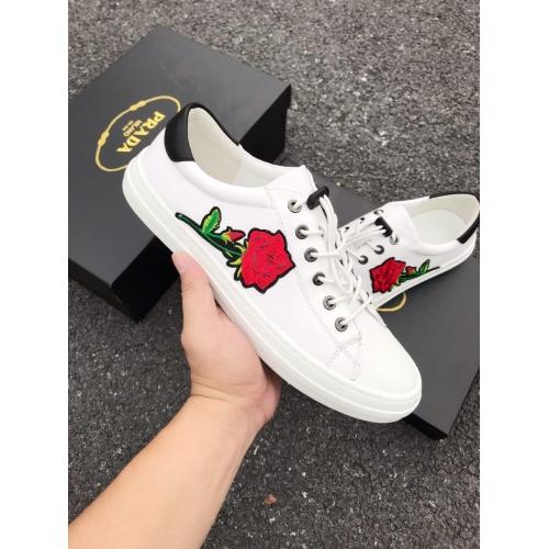 Cheap Prada Casual Shoes For Men #408783 Replica Wholesale [$82.00 USD] [W-408783] on Replica Prada New Shoes