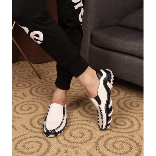 Cheap Prada Leather Shoes For Men #408797 Replica Wholesale [$72.00 USD] [W-408797] on Replica Prada Leather Shoes