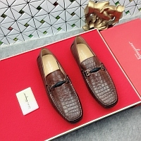 Salvatore Ferragamo SF Leather Shoes For Men #438855