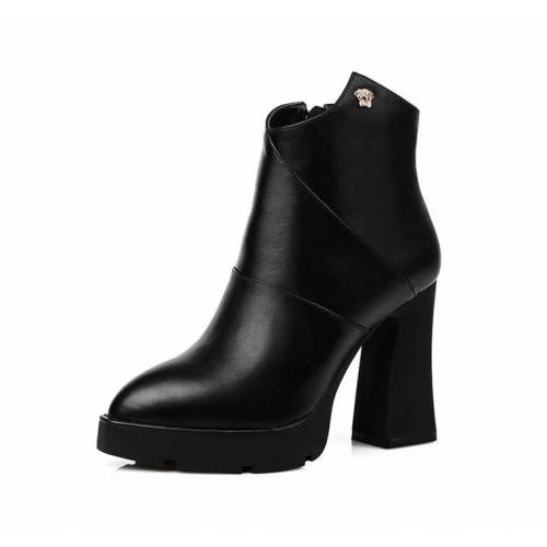 Cheap Versace Boots For Women #443035 Replica Wholesale [$85.00 USD] [W-443035] on Replica Versace Boots