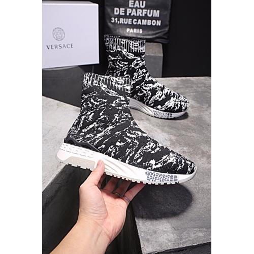 Cheap Versace Fashion Boots For Men #446824 Replica Wholesale [$85.00 USD] [W-446824] on Replica Versace Boots