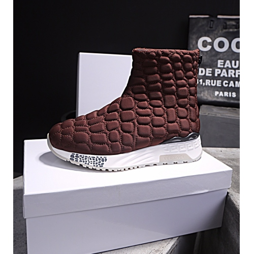 Cheap Versace Fashion Boots For Men #446827 Replica Wholesale [$85.00 USD] [W-446827] on Replica Versace Boots