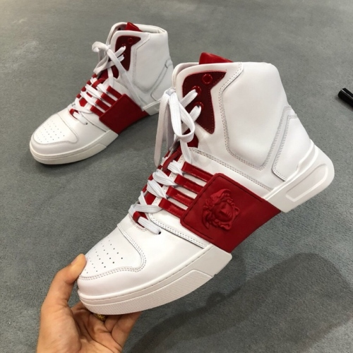 Cheap Versace High Tops Shoes For Men #447661 Replica Wholesale [$88.00 USD] [W-447661] on Replica Versace High Tops Shoes