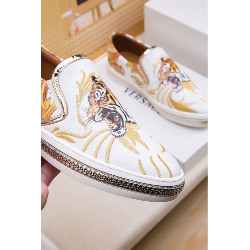 Cheap Versace Casual Shoes For Men #447668 Replica Wholesale [$81.00 USD] [W-447668] on Replica Versace Fashion Shoes