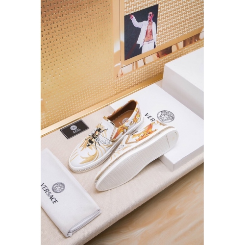 Cheap Versace Casual Shoes For Men #447669 Replica Wholesale [$81.00 USD] [W-447669] on Replica Versace Fashion Shoes
