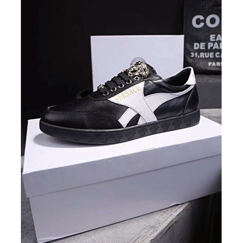Cheap Versace Casual Shoes For Men #448611 Replica Wholesale [$89.00 USD] [W-448611] on Replica Versace Fashion Shoes