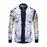 Versace Shirts Long Sleeved For Men #444607