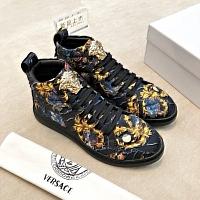 Cheap Versace High Tops Shoes For Men #447484 Replica Wholesale [$78.00 USD] [W-447484] on Replica Versace High Tops Shoes