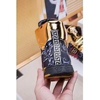 Cheap Versace High Tops Shoes For Men #447605 Replica Wholesale [$76.00 USD] [W-447605] on Replica Versace High Tops Shoes