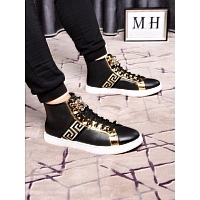 Cheap Versace High Tops Shoes For Men #447608 Replica Wholesale [$82.00 USD] [W-447608] on Replica Versace High Tops Shoes