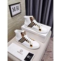 Cheap Versace High Tops Shoes For Men #447611 Replica Wholesale [$82.00 USD] [W-447611] on Replica Versace High Tops Shoes