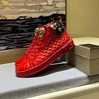 Cheap Versace High Tops Shoes For Men #447618 Replica Wholesale [$82.00 USD] [W-447618] on Replica Versace High Tops Shoes