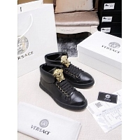 Cheap Versace High Tops Shoes For Men #447626 Replica Wholesale [$82.00 USD] [W-447626] on Replica Versace High Tops Shoes