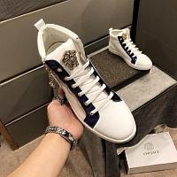 Cheap Versace High Tops Shoes For Men #447658 Replica Wholesale [$80.00 USD] [W-447658] on Replica Versace High Tops Shoes