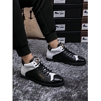 Cheap Versace High Tops Shoes For Men #447663 Replica Wholesale [$85.00 USD] [W-447663] on Replica Versace High Tops Shoes