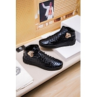 Cheap Versace High Tops Shoes For Men #447670 Replica Wholesale [$79.00 USD] [W-447670] on Replica Versace High Tops Shoes