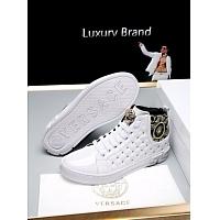Cheap Versace High Tops Shoes For Men #447674 Replica Wholesale [$79.00 USD] [W-447674] on Replica Versace High Tops Shoes