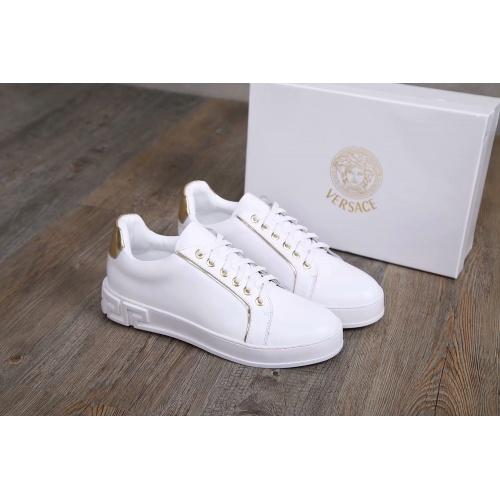 Cheap Versace Casual Shoes For Men #455338 Replica Wholesale [$82.45 USD] [W#455338] on Replica Versace Fashion Shoes