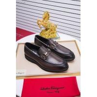 Salvatore Ferragamo SF Leather Shoes For Men #458733