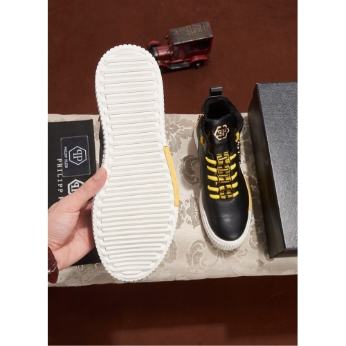 Cheap Philipp Plein PP High Tops Shoes For Men #461700 Replica Wholesale [$79.54 USD] [W#461700] on Replica Philipp Plein PP High Tops Shoes