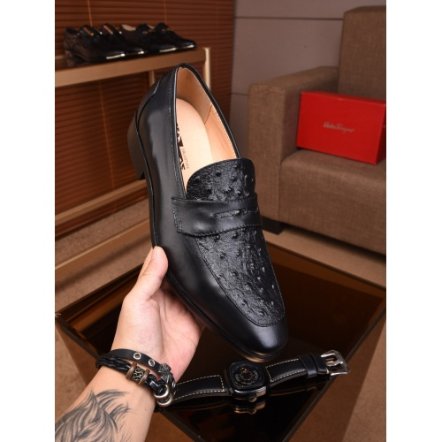 Cheap Salvatore Ferragamo SF Leather Shoes For Men #463187 Replica Wholesale [$72.75 USD] [W#463187] on Replica Ferragamo Leather Shoes