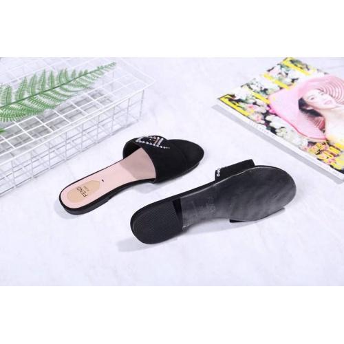 Cheap Fendi Slippers For Women #463783 Replica Wholesale [$64.99 USD] [W#463783] on Replica Fendi Slippers