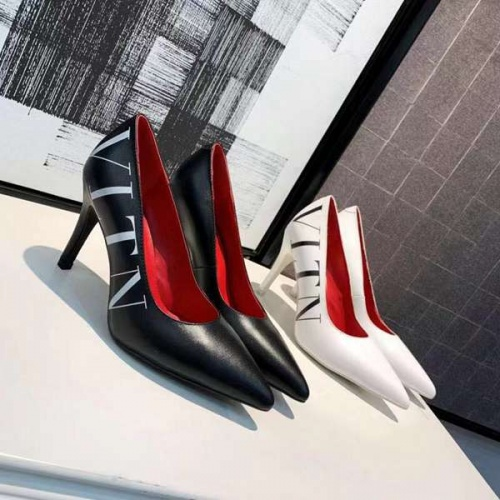 Cheap Valentino High-Heeled Shoes For Women #463895 Replica Wholesale [$76.63 USD] [W#463895] on Replica Valentino High-Heeled Shoes