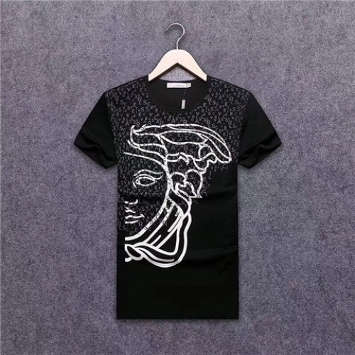 Cheap Versace T-Shirts Short Sleeved O-Neck For Men #463927 Replica Wholesale [$24.25 USD] [W#463927] on Replica Versace T-Shirts
