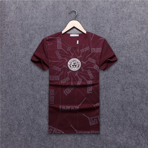 Cheap Versace T-Shirts Short Sleeved O-Neck For Men #463931 Replica Wholesale [$24.25 USD] [W#463931] on Replica Versace T-Shirts
