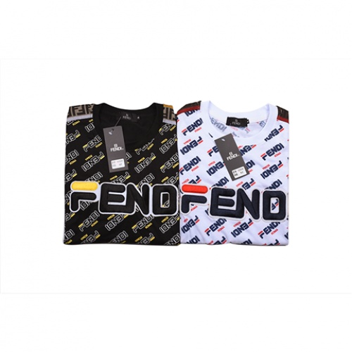 Cheap Fendi T-Shirts Short Sleeved O-Neck For Men #464018 Replica Wholesale [$31.04 USD] [W#464018] on Replica Fendi T-Shirts