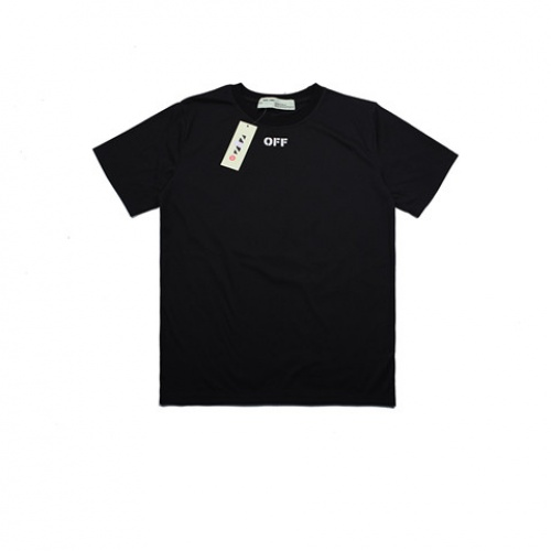 Cheap Off-White T-Shirts Short Sleeved O-Neck For Men #464040 Replica Wholesale [$26.19 USD] [W#464040] on Replica Off-White T-Shirts