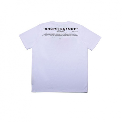 Cheap Off-White T-Shirts Short Sleeved O-Neck For Men #464065 Replica Wholesale [$28.13 USD] [W#464065] on Replica Off-White T-Shirts