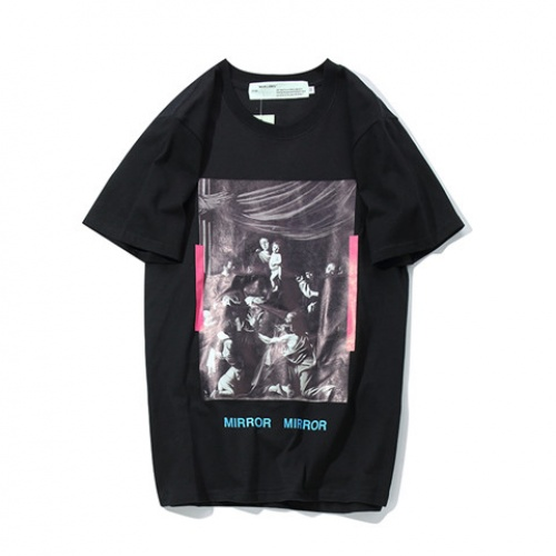 Cheap Off-White T-Shirts Short Sleeved O-Neck For Men #464070 Replica Wholesale [$28.13 USD] [W#464070] on Replica Off-White T-Shirts