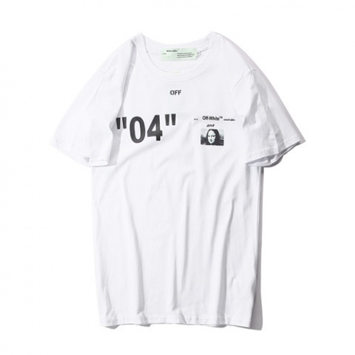 Cheap Off-White T-Shirts Short Sleeved O-Neck For Men #464074 Replica Wholesale [$28.13 USD] [W#464074] on Replica Off-White T-Shirts