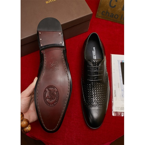 Cheap Bottega Veneta BV Leather Shoes For Men #464136 Replica Wholesale [$82.45 USD] [W#464136] on Replica Bally Leather Shoes