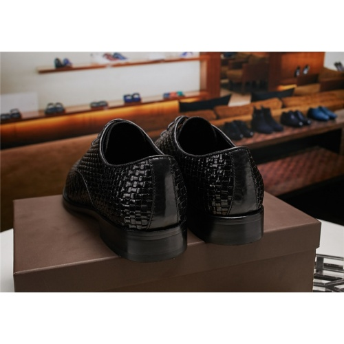 Cheap Bottega Veneta BV Leather Shoes For Men #464141 Replica Wholesale [$89.24 USD] [W#464141] on Replica Bally Leather Shoes