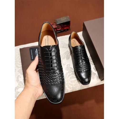 Cheap Bottega Veneta BV Leather Shoes For Men #464149 Replica Wholesale [$79.54 USD] [W#464149] on Replica Bally Leather Shoes
