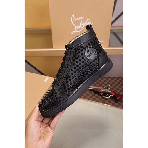 Cheap Christian Louboutin CL High Tops Shoes For Men #464161 Replica Wholesale [$77.60 USD] [W#464161] on Replica Christian Louboutin High Tops Shoes